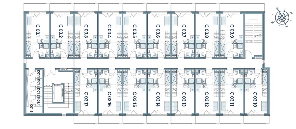 schemat budynku